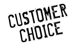 Customer Choice rubber stamp Stock Image