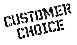 Customer Choice rubber stamp. Grunge design with dust scratches. Effects can be easily removed for a clean, crisp look. Color is easily changed Stock Photo