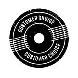 Customer Choice rubber stamp. Grunge design with dust scratches. Effects can be easily removed for a clean, crisp look. Color is easily changed Stock Photos