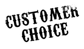 Customer Choice rubber stamp Stock Photos