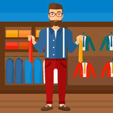 Customer choosing neckties. Stock Images