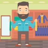 Customer choosing neckties. Stock Image