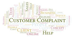 Free Customer Complaint Word Cloud. Royalty Free Stock Photography - 126512937