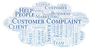Free Customer Complaint Word Cloud. Royalty Free Stock Images - 127194329