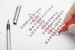 Customer crossword Stock Photos