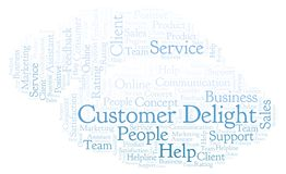 Customer Delight word cloud. Made with text only vector illustration