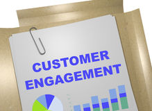 Customer Engagement concept. 3D illustration of CUSTOMER ENGAGEMENT title on business document Royalty Free Stock Image