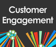 Customer Engagement Dark Colorful Elements Stock Photography