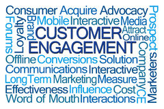 Customer Engagement Word Cloud Stock Images