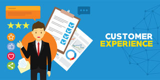 Customer experience and client testimonials. Vector illustration royalty free illustration