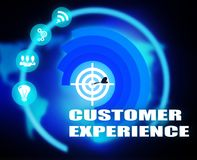 Customer Experience concept plan graphic. Background Royalty Free Stock Photos