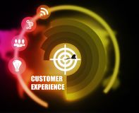 Customer Experience concept plan graphic. Background vector illustration