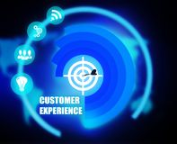 Customer Experience concept plan graphic. Background Stock Photography