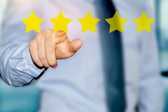 Customer experience rating. Customer satisfaction rating system concept royalty free stock photography