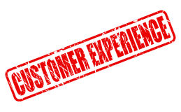 CUSTOMER EXPERIENCE red stamp text Stock Photography
