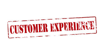 Customer experience. Rubber stamp with text customer experience inside, illustration royalty free illustration