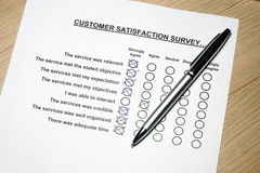 Customer fedback form Stock Photography