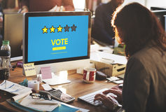 Customer Feedback Comment Vote Review Results Concept Stock Image