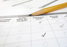 Customer feedback form Royalty Free Stock Photo