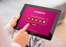 Customer Feedback Form on Tablet Royalty Free Stock Photo