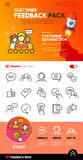 Customer Feedback icons and Design Royalty Free Stock Image