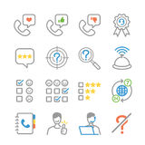 Customer feedback icons royalty free illustration