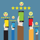 Customer feedback through the online channel Royalty Free Stock Image