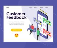 Online Data Customer Feedback Rating Vector Design royalty free illustration