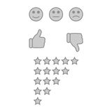 Customer feedback or user experience concept. Stock Photos