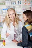 Customer With Flu In Pharmacy Royalty Free Stock Image