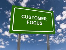 Customer focus Royalty Free Stock Image
