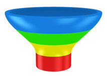 Customer funnel. Sales funnel isolated on the white background Royalty Free Stock Images