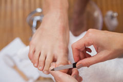 Customer getting a pedicure Stock Photography
