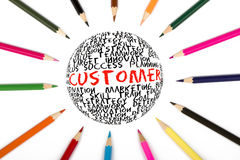 Customer and global strategy Stock Images