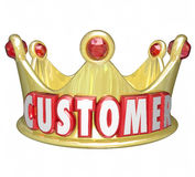 Customer Gold Crown Top Priority King VIP Treatment royalty free illustration