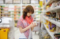 Customer at groceries store Stock Photography