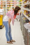 Customer at groceries store Stock Photo