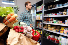 Customer at the grocery store Royalty Free Stock Photo