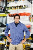 Customer With Hands On Hip In Hardware Shop Stock Photo