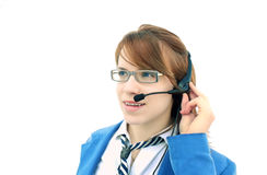 Customer help desk - operator Stock Photos