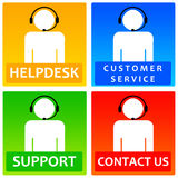 Customer icons. Colorful icons in order to make life easy for your customers Royalty Free Stock Image