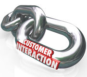 Customer Interaction 3d Words Chain Links Partnership Engagement Royalty Free Stock Images