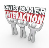 Customer Interaction 3d Words Clients Engagement Involvement Stock Image