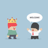 The customer is king Stock Image