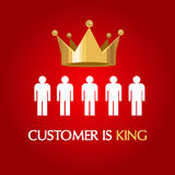 Customer is king consumer user queen Royalty Free Stock Photography
