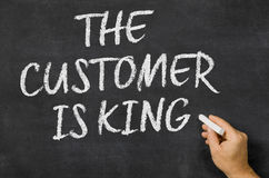 The customer is king Stock Photo