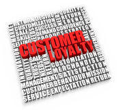 Customer Loyalty. And related words on white background Royalty Free Stock Photos