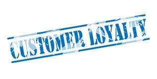 Customer loyalty blue stamp Royalty Free Stock Image