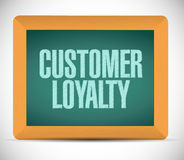 Customer loyalty board sign concept Stock Image