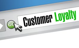 Customer loyalty browser sign concept Stock Image